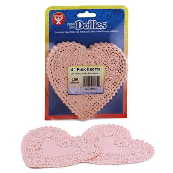 Doilies 4 Pink Hearts By Hygloss Products