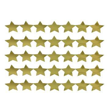 Sticker Strips 5 Strips Gold Stars By Hygloss Products