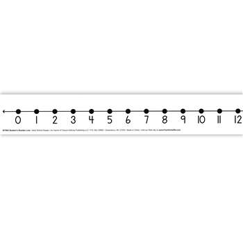 Number Line Student W/ 12/Pk Adhesive 2 X 24 Mark-On/Wipe-Off By Frank Schaffer Publications