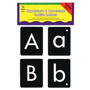 Uppercase/Lowercase Tactile Letters By Frank Schaffer Publications