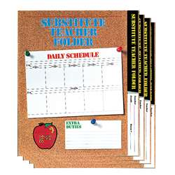 Substitute Folder Elem Cork 24-Pk 9 X 11 W/ Pocket By Carson Dellosa