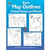 Blank Map Outlines Gr 3 & Up Us & World By Frank Schaffer Publications