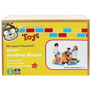 Imagibricks Giant Building 24Pc Set Blocks By Smart Monkey