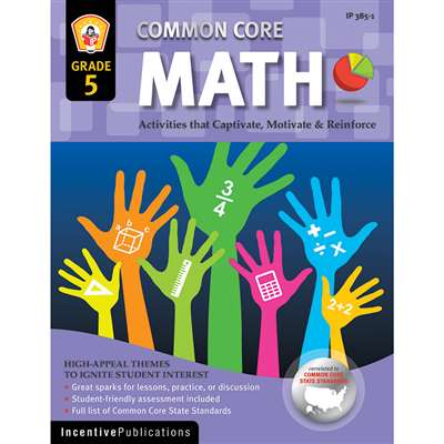Math Gr 5 Common Core Reinforcement Activities By Incentive Publication