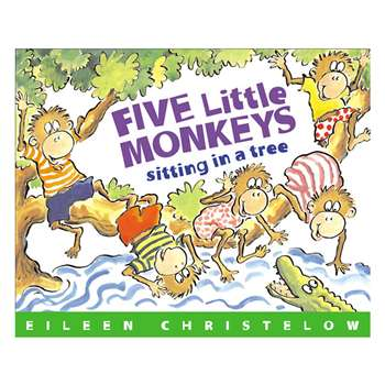 Carry Along Book & Cd Five Little Monkeys Sitting In A Tree By Houghton Mifflin