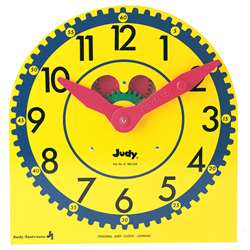 Original Judy Clock 12-3/4 X 13-1/2 Wood W/ Standard By Frank Schaffer Publications
