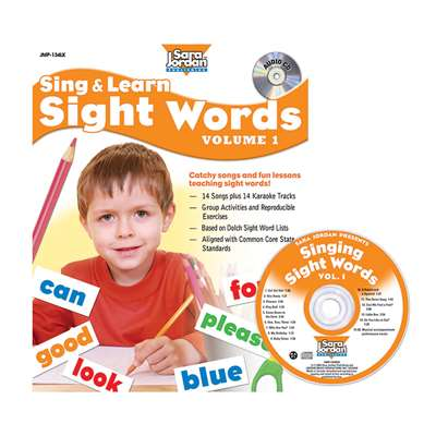 Sing & Learn Sight Words Book Cd 1, JMP134LK