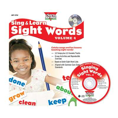 Sing & Learn Sight Words Book Cd 4, JMP137LK