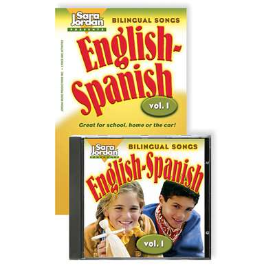 Bilingual Songs English-Spanish Vol 1 By Sara Jordan Publishing