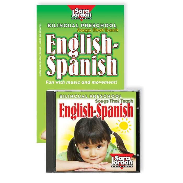 Bilingual Preschool English-Spanish Cd/Book By Sara Jordan Publishing
