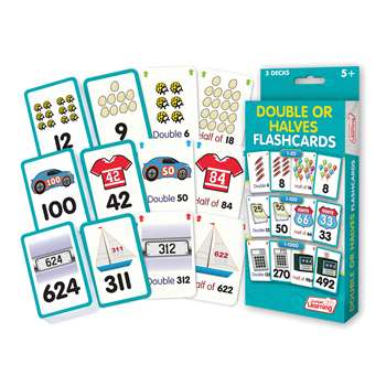 Double Or Halves Flash Cards, JRL213