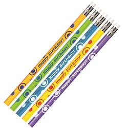 Birthday Glitter Asst Pencils Dozen By Jr Moon Pencil