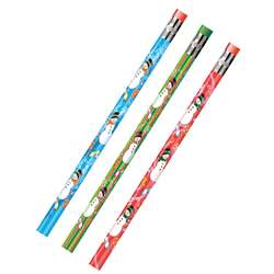 Decorated Pencils Holiday Snowmen Asst By Jr Moon Pencil
