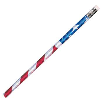 Pencils Glitz Stars & Stripes 12/Pk By Jr Moon Pencil