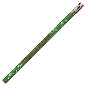 Pencils Merry Christmas Asst 12/Pk By Jr Moon Pencil
