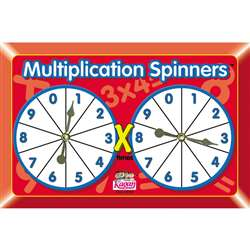 Multiplication Spinners By Kagan Publishing
