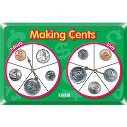 Making Cents Spinners By Kagan Publishing