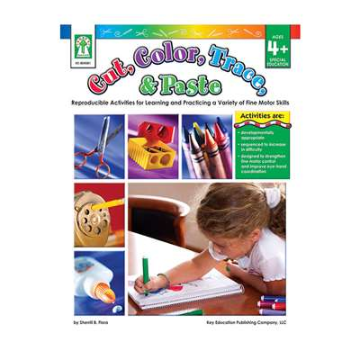 Cut Color Trace & Paste Book Age 4+ Special Education By Carson Dellosa