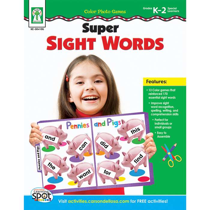Color Photo Games Super Sight Words By Carson Dellosa