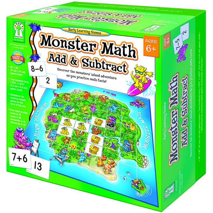 Monster Math Add And Subtract By Carson Dellosa