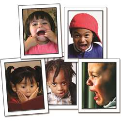 Photographic Learning Cards Facial Expressions By Carson Dellosa