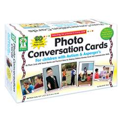 Photo Conversation Cards For Children With Autism And Aspergers By Carson Dellosa