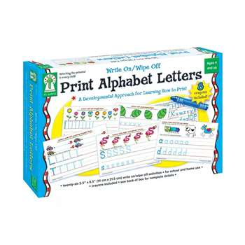 Write On/Wipe Off Print Alphabet Letters By Carson Dellosa