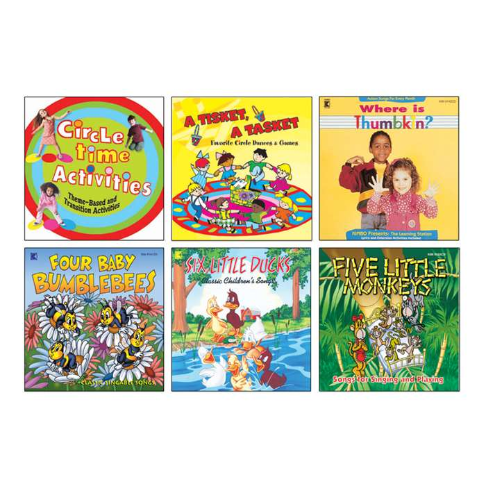 Early Learning Fun Cd Set Of 6 By Kimbo Educational