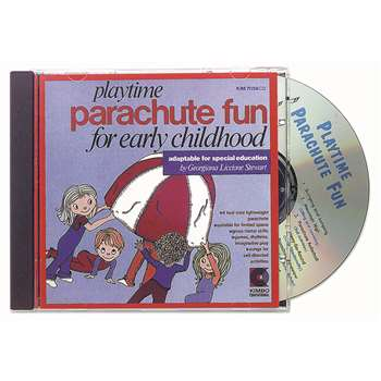 Playtime Parachute Fun Cd Ages 3-8 By Kimbo Educational