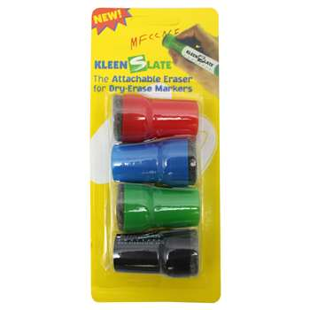 Attachable Erasers For Dry Erase Large Barrel Marker 4-Pk By Kleenslate Concepts