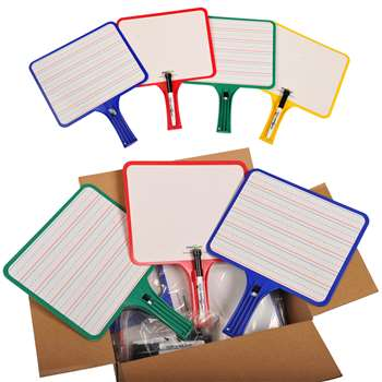 Kleenslate Dry Erase Paddles 24Pk Rectangular Classroom Set By Kleenslate Concepts