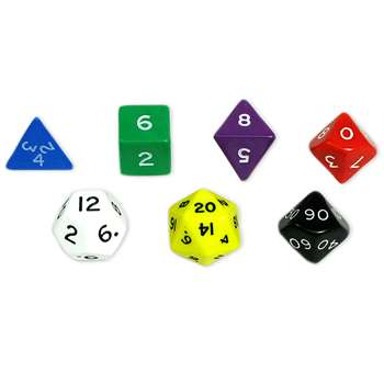 Jumbo Polyhedral Dice Set Of 7 By Koplow Games