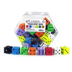 "1"" Foam Dot Dice 50/Tub, KOP10936"