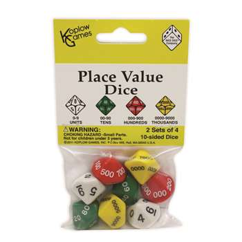 Place Value Dice By Koplow Games
