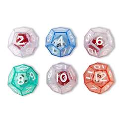 12-Sided Dice Set Of 6 By Koplow Games