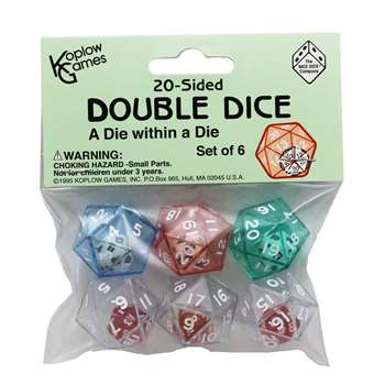 20 Sided Double Dice By Koplow Games