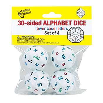 Alphabet Dice 4 Colors By Koplow Games