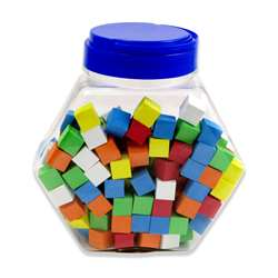 16Mm Foam Dice Tub Of 200 Assorted Color Blank By Koplow Games