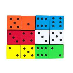 16Mm Foam Dice 12Pk Assorted Color Spot By Koplow Games