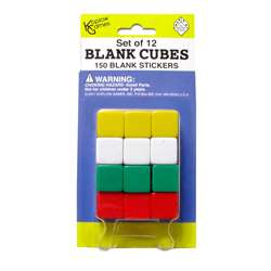 Blank Dice With Stickers Set Of 12 Dice With 150 Stickers By Koplow Games