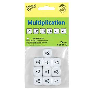 Multiplication Dice Set Of 10, KOP18204