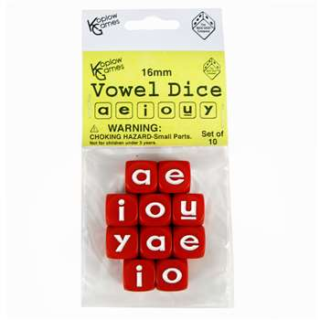 Vowel Dice Set 10 Pc, KOP18528
