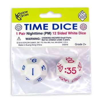 Time Dice Pair Of White Pm, KOP18844