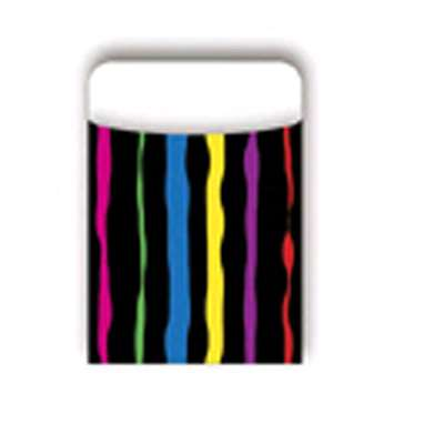 Pick-A-Pocket Library Pockets Neon Stripes By Barker Creek Lasting Lessons