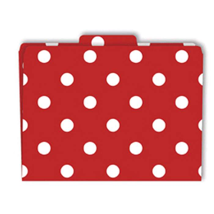 File Folders Red & White Dots Functional File Folders By Barker Creek Lasting Lessons