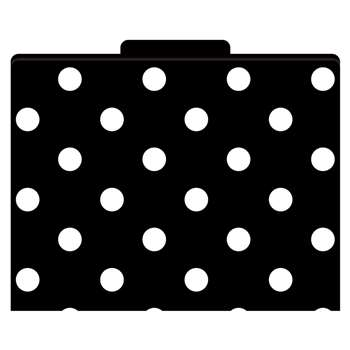 File Folders Black & White Dots Functional File Folders By Barker Creek Lasting Lessons