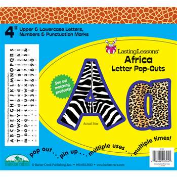 Africa Letter Pop-Outs By Barker Creek Lasting Lessons