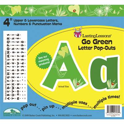 Go Green Letter Pop-Outs By Barker Creek Lasting Lessons
