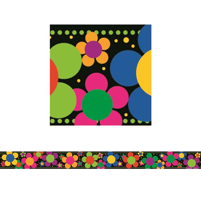 Neon Flower Power Border By Barker Creek Lasting Lessons