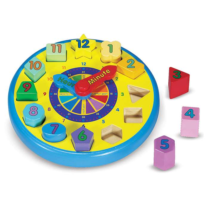 Wooden Shape Sorting Clock By Melissa & Doug